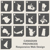 Set of Canadian province map buttons — Stock Photo