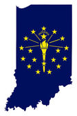 State of Indiana flag map — Stock Photo