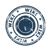 Wiki concept stamp — Stock Photo