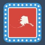 Alaska state button — Stock Photo #40731061