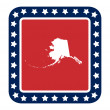 Alaska state button — Stock Photo #40731109