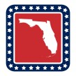 Floridstate button — Stock Photo #40735555
