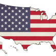 Grunge Americflag map — Stock Photo #40735737