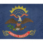 Grunge state of North Dakota flag map — Stock Photo