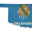 Grunge state of Oklahomflag map — Stock Photo #40739215