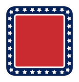 Blank American flag button — Stock Photo