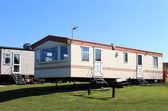 Caravans in trailer park — Zdjęcie stockowe
