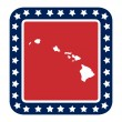 Hawaii state button — Stock Photo #40745625