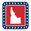 Idaho state button — Stock Photo #40746365