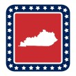 Kentucky state button — Stock Photo