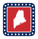 Maine state button — Stock Photo