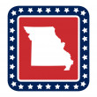 Missouri state button — Stock Photo #40814563