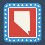 Nevada state button — Stock Photo