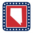 Nevada state button — Stock Photo