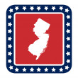 New Jersey state button — Stock Photo #40816113