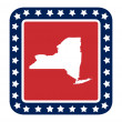 New York state button — Stock Photo #40816441
