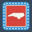 North Carolinstate button — Stock Photo #40816763