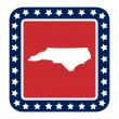 North Carolinstate button — Stock Photo #40816843