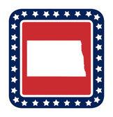 North Dakota state button — Stock Photo