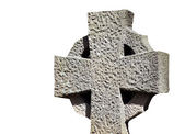 Old cross in cemetery — Stock Photo