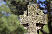 Old cross in cemetery — Stok fotoğraf