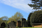 Old graves in English cemetery — Foto de Stock