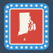 Rhode Island state button — Stock Photo #40981339