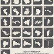 Set of South America map buttons — Stock Photo