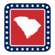 South Carolinstate button — Stock Photo #40981963