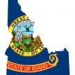 State of Idaho flag map — Stock Photo #40982575