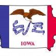 State of Iowa grunge flag map — Stock Photo #40982627