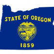 State of Oregon flag map — Stock Photo #40983517