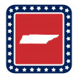 Tennessee state button — Stock Photo