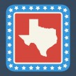 Texas state button — Stock Photo #40983857