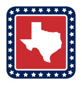 テキサス状態ボタン — ストック写真