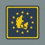Denmark European flag button — Stock Photo #42448241