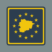 Andorra European flag button — Stock Photo
