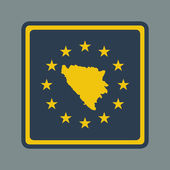 Bosnia and Herzegovina European flag button — Stock Photo