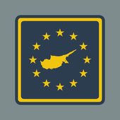 Cyprus European flag button — Stock Photo
