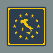 Italy European flag button — Stock Photo