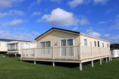 Modern caravans in trailer park — Stock Photo