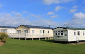 Modern trailer or caravan park — Stock Photo
