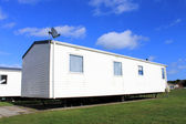 Trailer on caravan park — Stock Photo