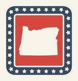 Oregon American state button — Stock Photo
