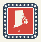 Rhode Island American state button — Stock Photo