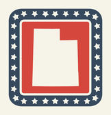 Utah American state button — Stock Photo
