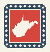 West Virginia American state button — Stock Photo