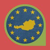 European Union Austria marker pin — Stock Photo