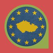 European Union Czech Republic marker button — Stock Photo