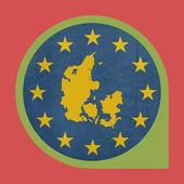 Europeiska unionen danmark markör knapp — Stockfoto